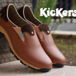 sepatu kickers predator slop kulit bam coklat original handmade