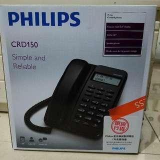 99%new PHILIPS CRD150B 有線電話