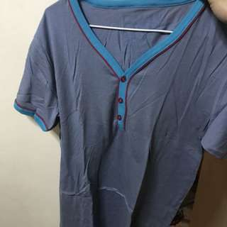 FnH Blue Vneck Shirt Medium