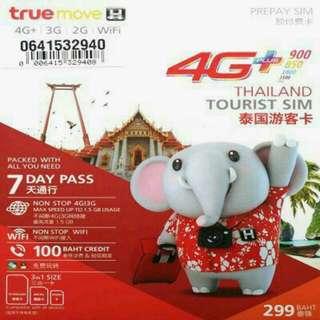 泰国 數據卡 8日 4G 2.5GB +128kbps 無限數據 上網卡 SIM CARD +100分鐘通話