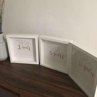 Calligraphy frame. Wedding decoration. Reception table.
