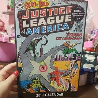 BN Justice League of America 2018 Calender