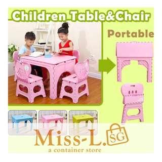 👣 PORTABLE KIDS TABLE&CHAIR