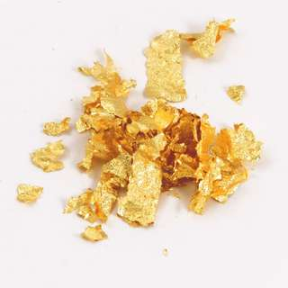 Gold foil flakes gold leaf flakes
