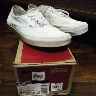 Authentic Vans True White Size 10.