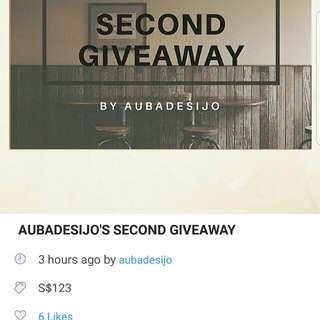 Giveaway repost