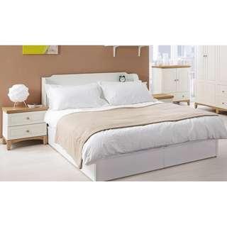 簡約5尺床頭箱+5尺床底-少少