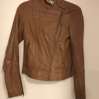 Mackage Camel Leather Kenya Jacket