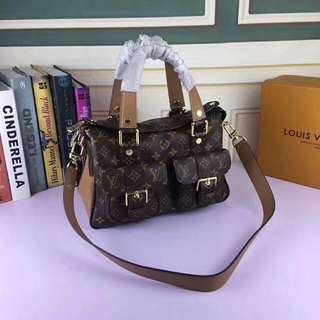 Lv Woodstock monogram high grade pu leather