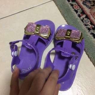 Jelly Amethyst Purple Sandals