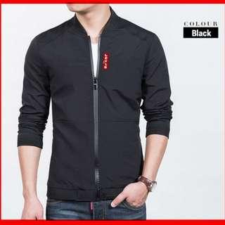 Jaket Pria LEVI'S HITAM jaket simple murah jaket hitam polos standar