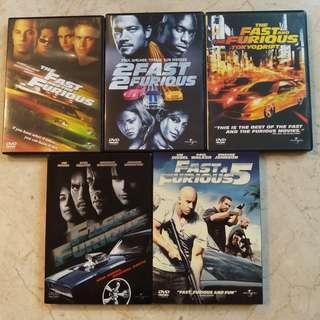 Fast & Furious 1 - 5