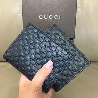 Gucci Monogram 壓紋短銀包