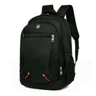 #BRAND NEW SOLID BLACK BACKPACK