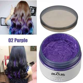 Colour washable hair wax