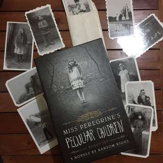 MISS PEREGRINE HARDBOUND + 12 PHOTOGRAPHS