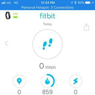 fitBit wrist band