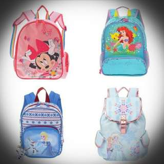 Open PO backpack for girl by Disney Japan