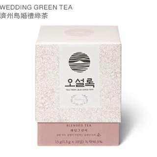 🚚 韓國帶回 OSULLOC 濟州島婚禮綠茶 WEDDING GREEN TEA 現貨