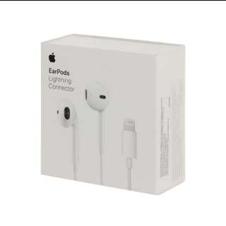 Original Apple Earpods with lightning connector perfect for Iphone 7 8 and X !  Order now :)