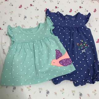 Carter's Polka Dot Top & Romper (Authentic from US)