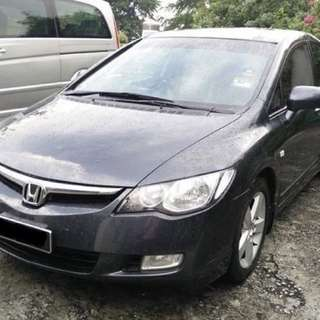 Honda Civic Toyota Altis sedan mpv Long term rental