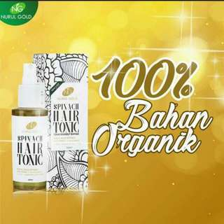 Nurul Gold Spinach Hair Tonic - 100ml