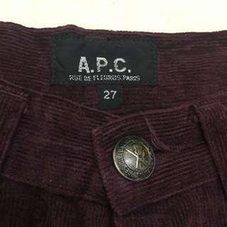 APC MAROON FLY BUTTON SIZE 25