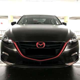 Mazda front grille custom wrap