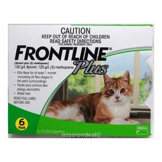 Frontline Plus For Cats 6s