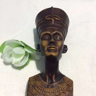 Wooden Nefertiti Head Souvenir