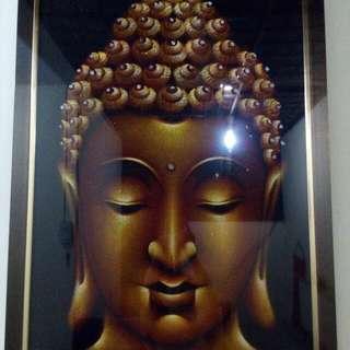 Lukisan Buddha dr pasir *