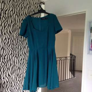 Teal glassons dress size8