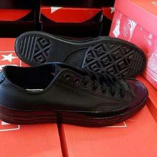 Converse ct 70s ox mono black leather