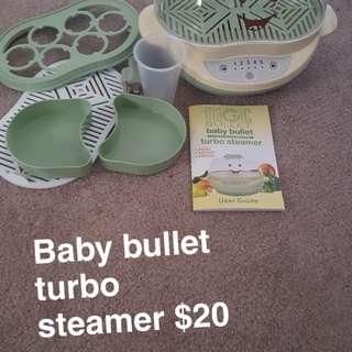 Baby bullet steamer
