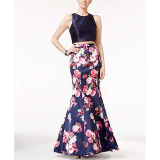 XCAPE SIZE 2/4/ XS/S 2 PIECE FLORAL FORMAL GOWN PROM DRESS