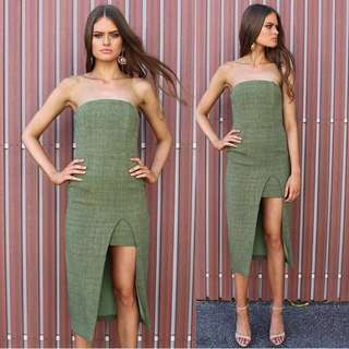 Petal and pup green strapless dress size 6