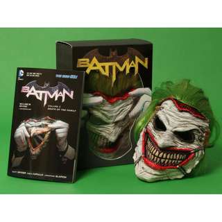Batman: Death of the Family Volume 3 and The Joker Mask Set