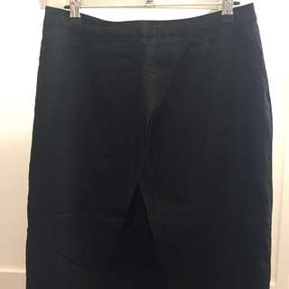 Black Split Front Skirt