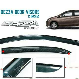 Air Press Window Door Visor Wind Deflector 3inch For Perodua Bezza (4 pcs/set)