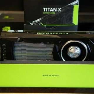 NVIDIA TITAN X PASCAL GP102 12GB GDDR5X Graphics Video Card - Light Use, Warranty Covered, Boxed