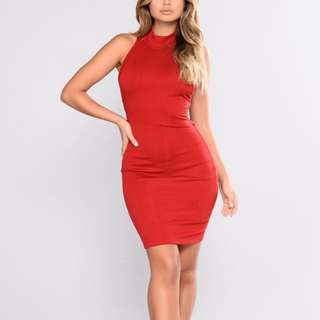 BNWT Red Fashion Nova Dress