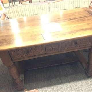 18世紀 古董木桌(有抽屜)- 購自瑞士
