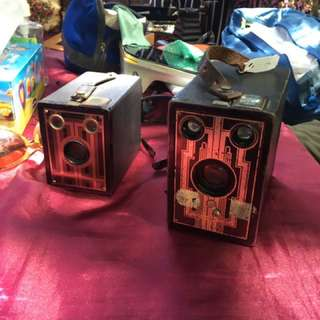 🚚 1920年 美國 brownie junior box camera 古董相機