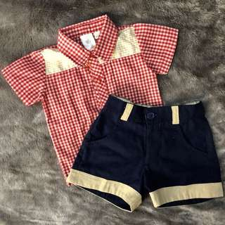 Polo and Shorts Set for Babies