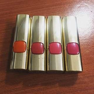 二手L'OREAL巴黎萊雅純色訂製唇膏(原價385)