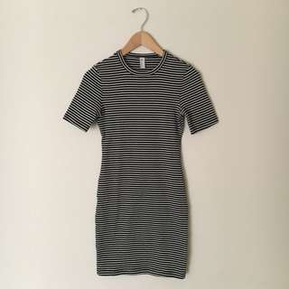 American Apparel- Short Sleeve Rib Mini Dress