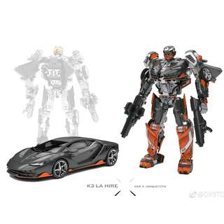 [Preorder] DX9 x Unique Toys, K3 La Hire, TLK The Last Knight Hot Rod