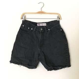 Vintage - Stone Wash Black Shorts