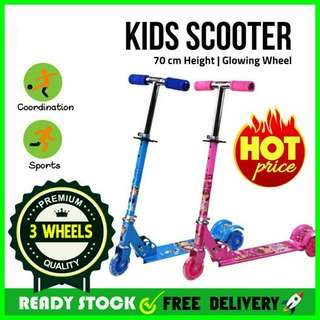💥RS💥 Adjustable Foldable Kids 3 Wheels Scooter